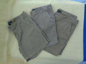Womens-SIZE-10-Shorts-COTTON-Khaki-Eddie-Bauer-LOT-OF-3-PAIR