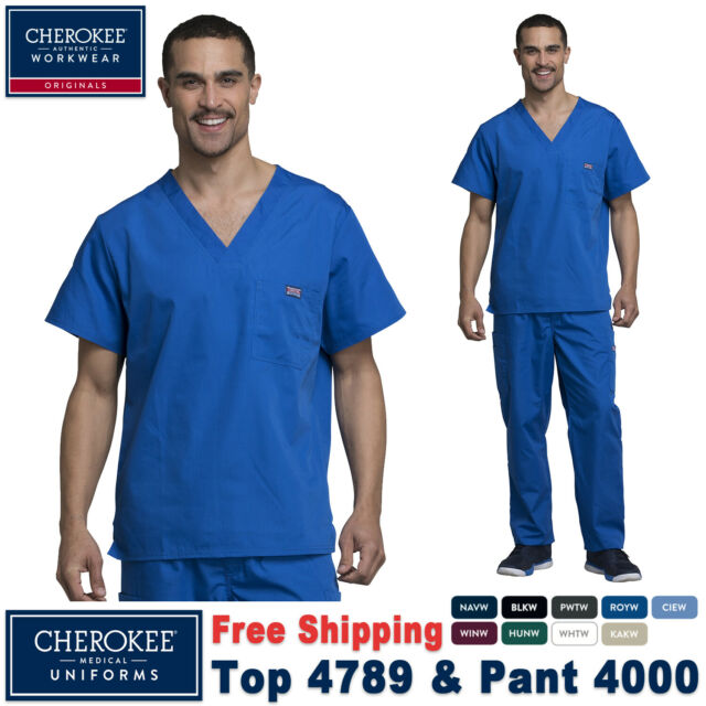 Cherokee Scurbs WorkWear Set Khaki-KAKW Top 4700 Pant 4101 Regular,Petite NWT