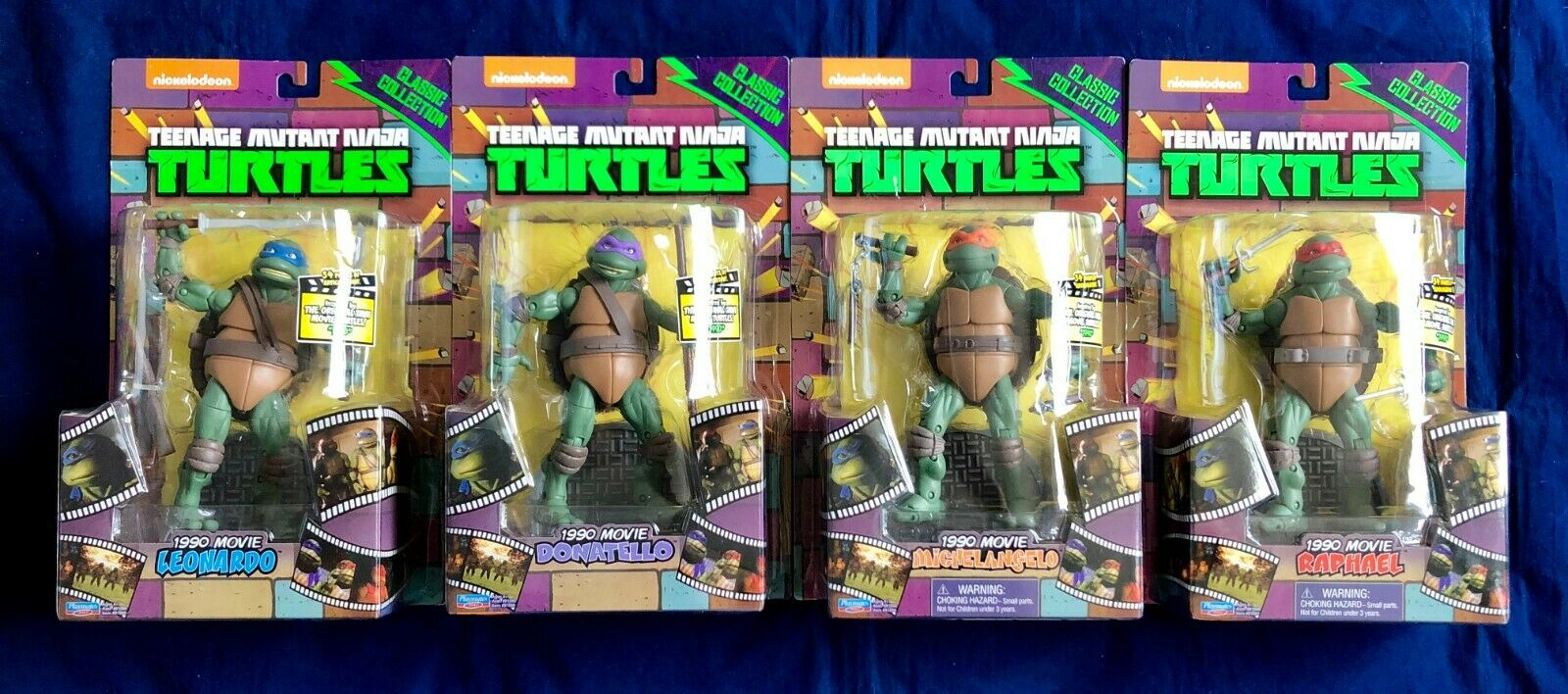 Teenage Mutant Ninja Turtles 1990 Movie 6  Classic Collection Set of 4 Figures