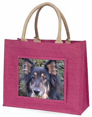 dreifarbig Schäferhund Große Rosa Einkaufstasche Weihnachtsgeschenk , AD-GS4BLP