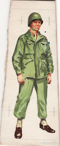 Wwii Original Military Sketch Army Uniforms American Soldier