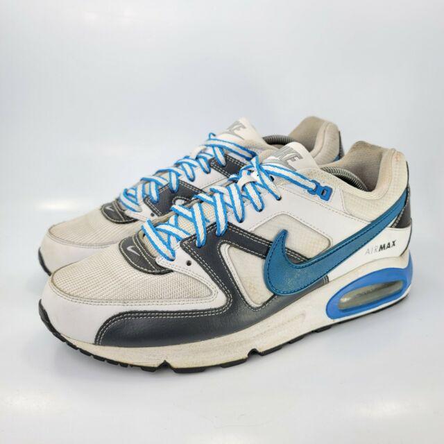 Nike Air Max Command Running Shoe Mens Size 10 397689-110 White Black Blue