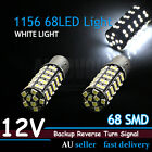 2PCS 1156 BA15S 68 SMD Brake Reverse Tail 12V LED Light Globe Bulb Bright White
