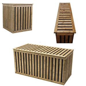 Auflagenbox Holztruhe Gartenbox Kissenbox Gartentruhe Holz