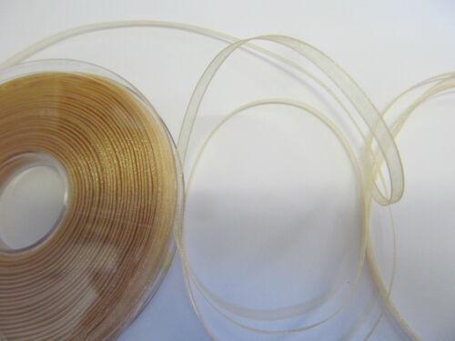 Sheer Organza Ribbon £3.20 per reel 25 metre rolls Many colours-15 mm Wide