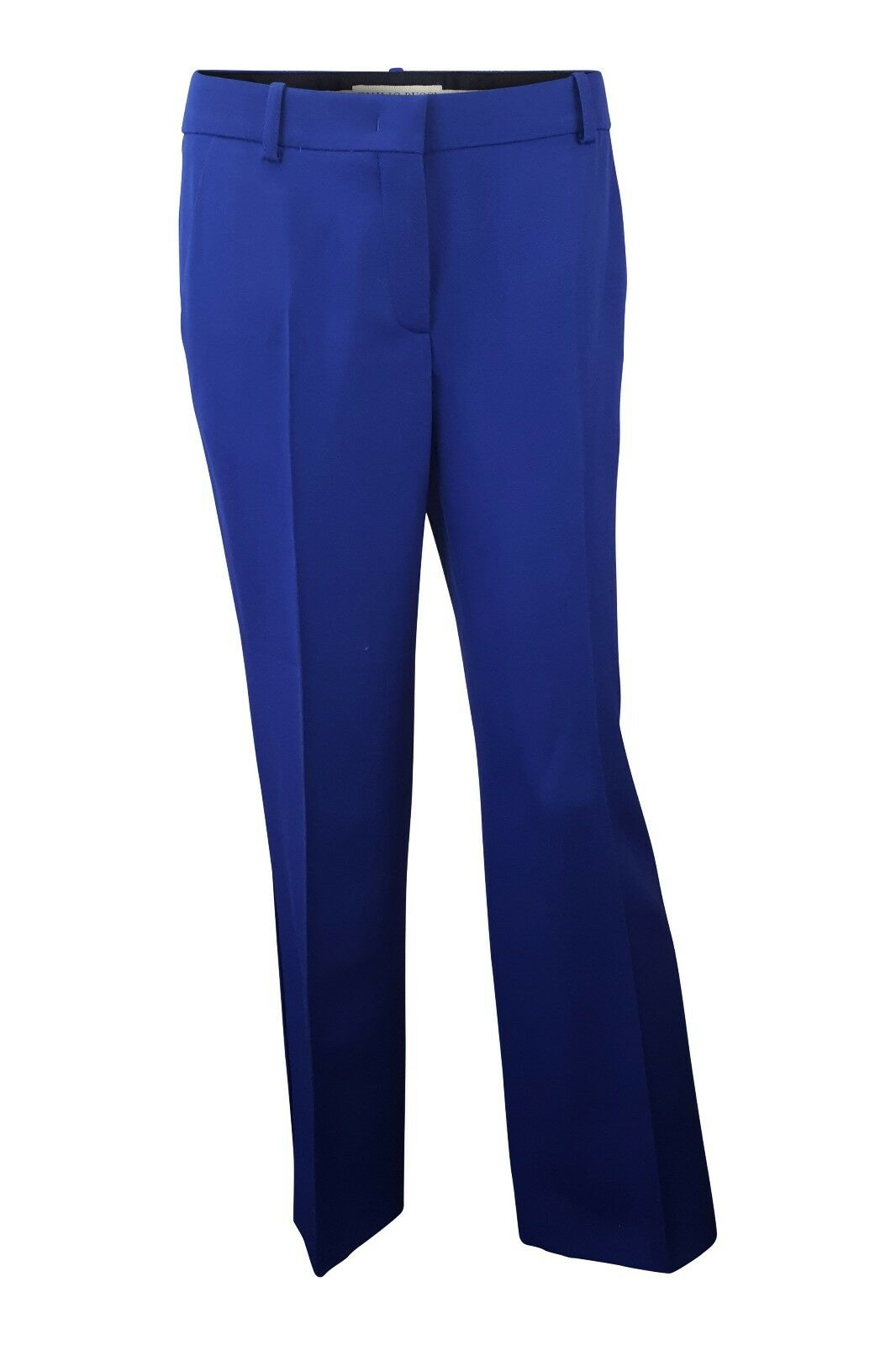 EMILIO PUCCI WOOL BLEND ELECTRIC blueE STRAIGHT LEG TROUSERS (44)