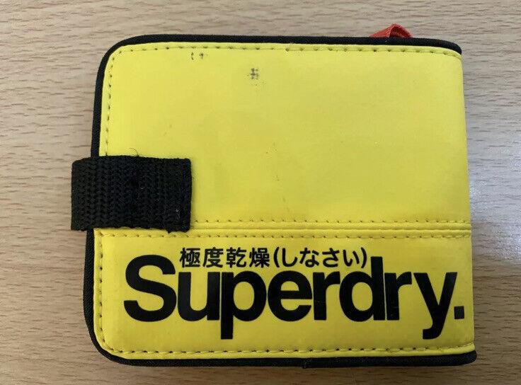 Superdry Small Tarp Wallet - Yellow/Black BNWT