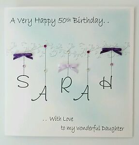 Image Is Loading Large Personalised Birthday Card Daughter 50th Any Person