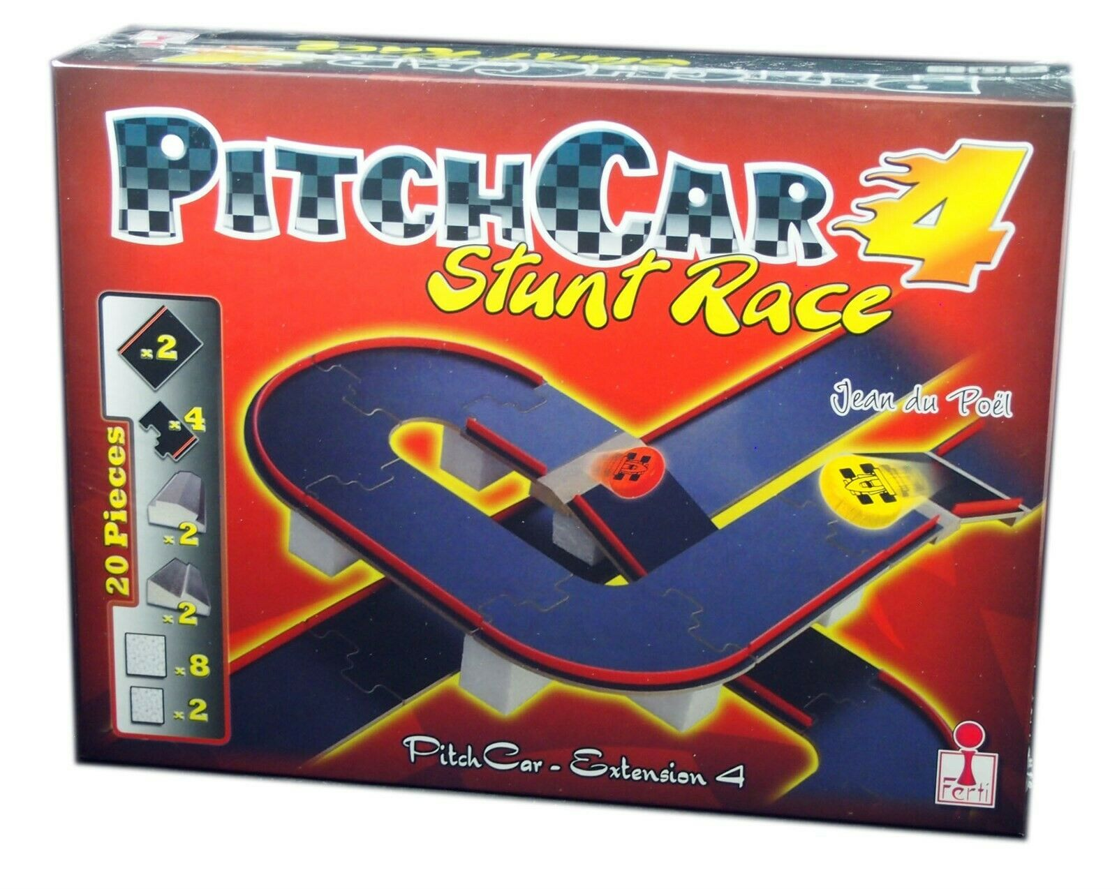 Ferti, PitchCar extension 4, Stunt Race action game, New and Sealed