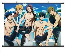 "Home Decor Japanese Anime Wall poster Scroll Free! - Iwatobi Swim Club 24''*18""B"
