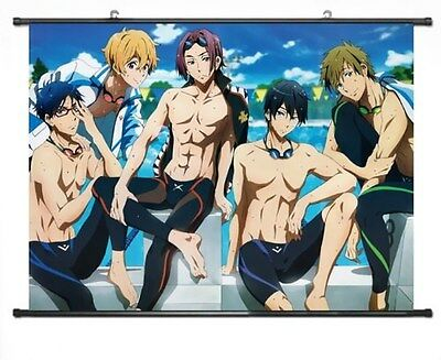 "Iwatobi Swim Club 24/'/'*18/""B Home Decor Japanese Anime Wall poster Scroll Free!"