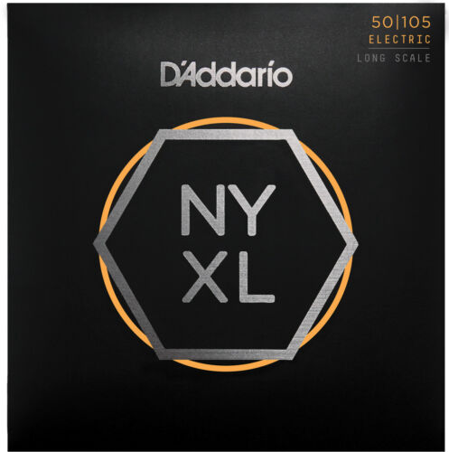 Long Scale D/'Addario NYXL50105 Nickel Wound Bass Guitar Strings Medium 50-105