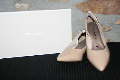 TAMARIS @ Damen Pumps @ Dirndl Schuhe @ Tracht @ nude Lack @ 36 41   eBay