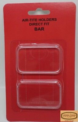 25  Direct Fit Coin 29x50 Holder Capsule for 1oz Silver Bar One Troy Ounce Bar