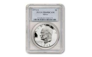 1971-S-Silver-Ike-Dollar-1-Eisenhower-PR69DCAM-PCGS-Certified-Graded-Slabbed