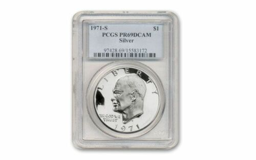 1971-S  Silver $1 Ike Eisenhower Dollar PCGS PR-69 DCAM
