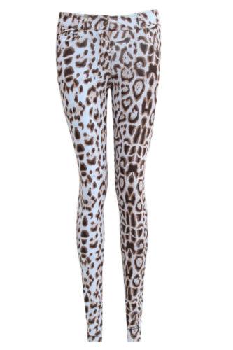 Damen Jeggings Damen Passform SKINNY bunt dehnbar Hose Jeans Größe 8 to 26