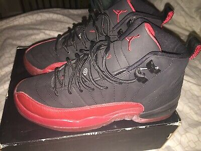 2009 Jordan 12 Flu Game Xii Retro Gs Used Size 5y Red Black Bred