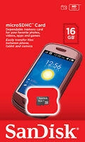 Sandisk 16gb Class 4 Microsd Micro Sd Sdhc Microsdhc Memory Flash Card Retail
