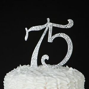 Image Is Loading 75 Cake Topper 75th Birthday Or Anniversary