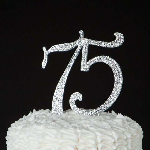 75 Cake Topper 75th Birthday Or Anniversary