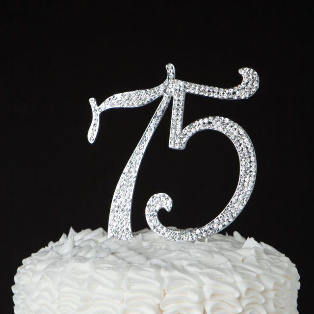 Ella Celebration 75 Cake Topper For 75th Birthday Or Anniversary