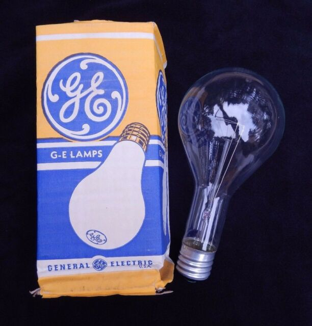 Lot of 3 Vintage New GE 500W 130V Mogul Base Clear Incandescent Light Bulb NOS