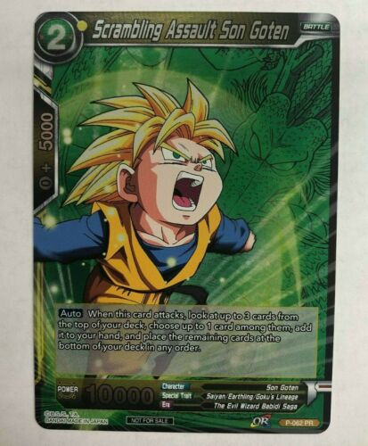 x1 Dragon Ball Super Card Game Scrambling Assault Son Goten Event Pack 2 Promo