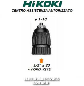 MANDRINO AUTOSERRANTE HIKOKI HITACHI PER TRAPANO E AVVITATORE DA 10 mm