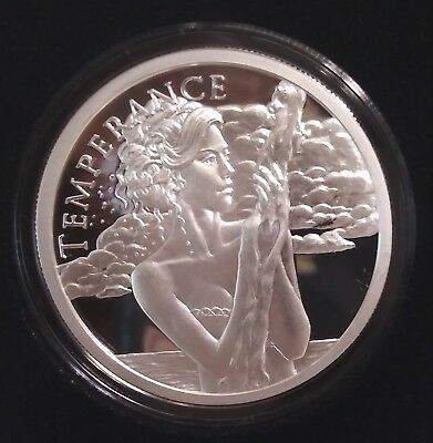2018 Silver Shield 1 oz Silver Proof Temperance Cardinal Virtues Series #2