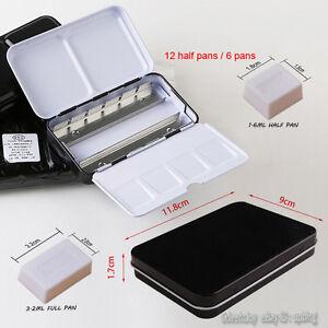 Portable Watercolor Metal Travel Artist Case Empty 24 half pans Storage Palettes