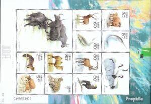 Volksrepublik-China-3219-3228-Kleinbogen-kompl-Ausg-gestempelt-2001-Geschuetzt