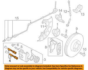 s l300 vw volkswagen oem 11 16 jetta brake front caliper pin 1j0615219 ebay