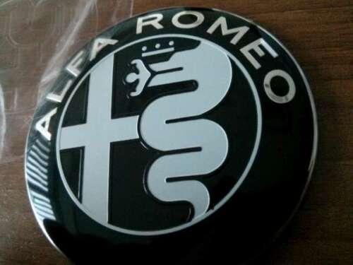 Guilietta 159 147 Mito 156 2pcs Alfa Romeo BLACK GIULIA emblems 74mm