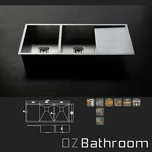 Cube-Stainless-steel-kitchen-sink-basin-double-full-bowl-exclusive