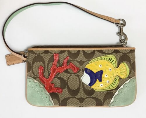 Rare COACH Limited Edition Signature Fish Coral A