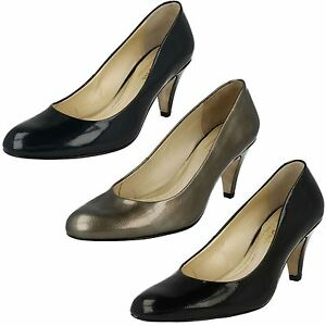 Details about Ladies Van Dal Court Shoes In Black Or Navy Leather 'Holt'