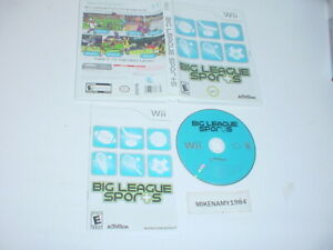 BIG LEAGUE SPORTS game complete in case w/ manual - Nintendo Wii