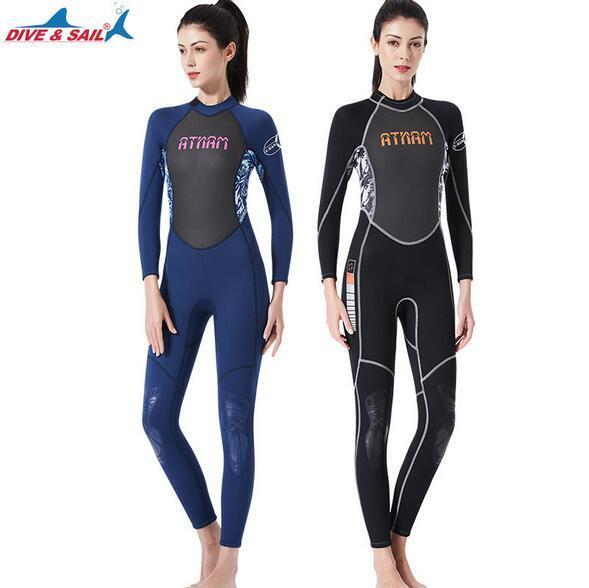 3MM Warm SCR Neoprene Long Sleeve Full Body Women Wetsuit  Diving Surfing WetSuit  zero profit
