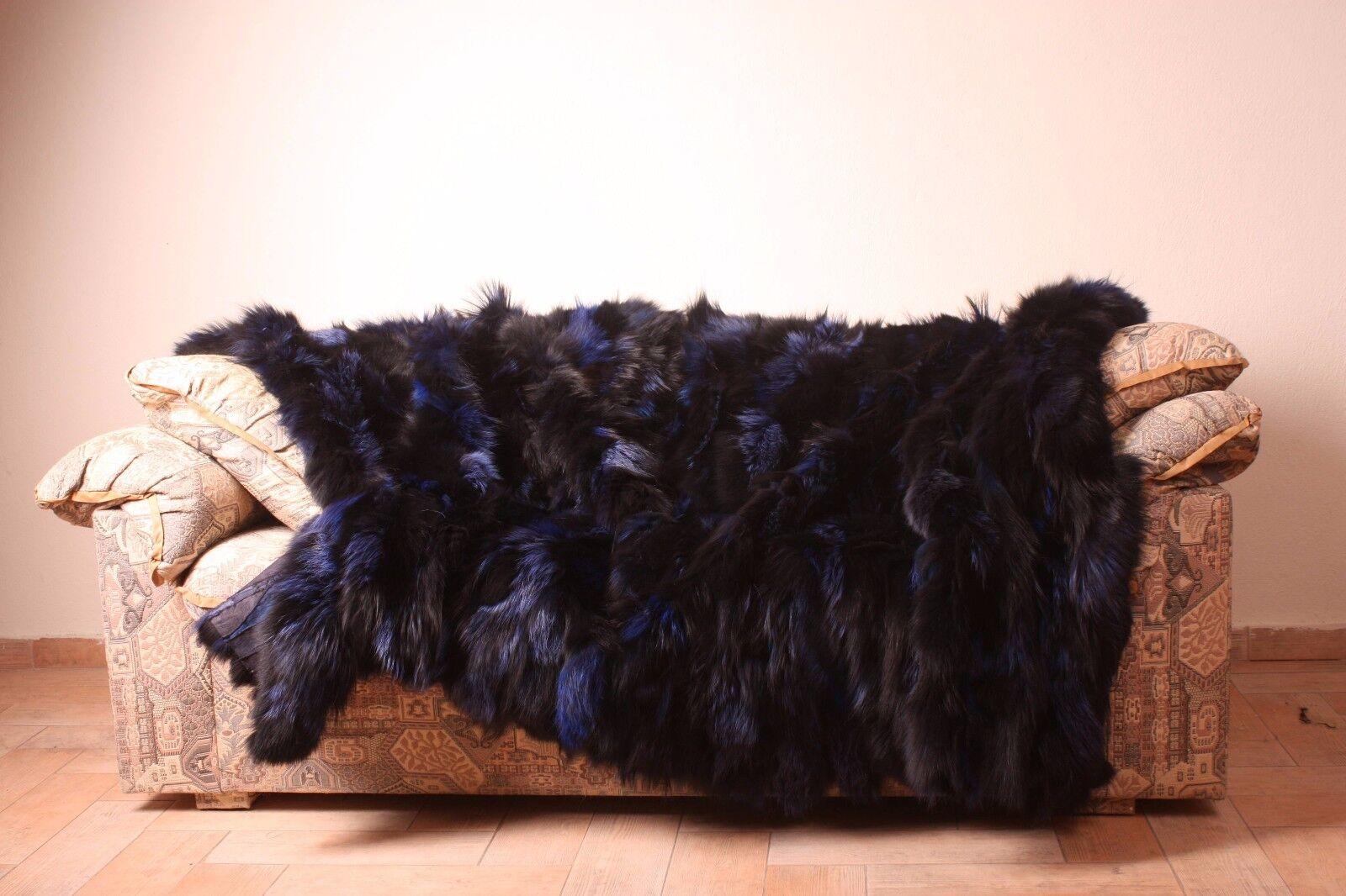 Fourrure de Renard Vulpes Blanket Throw Confort douceur Saga FURS meilleure qualité Cozy Home