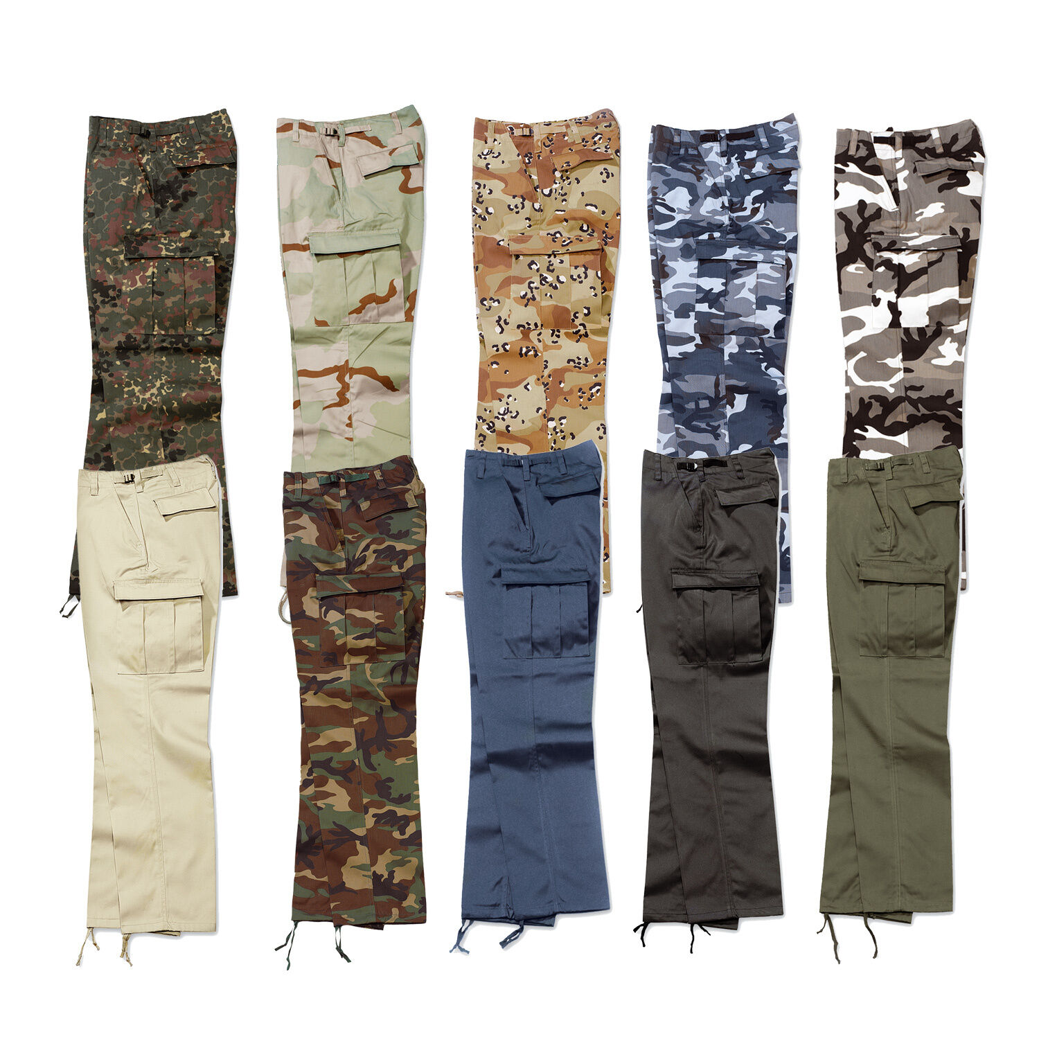 Surplus Cargo Trousers Us Ranger Vintage XS-7XL 10 colors