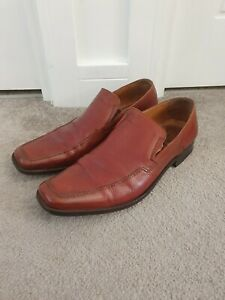Loake-Full-Leather-Shoes-Size-UK-10-5-EU-45-Harry-Tan-Brown-Formal-Slip-On-Shoes