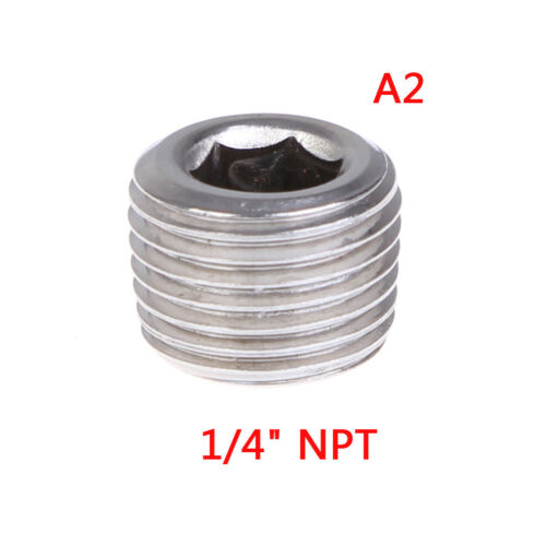 Npt male ss304 countersunk end plug hex socket pipe fittings  TB