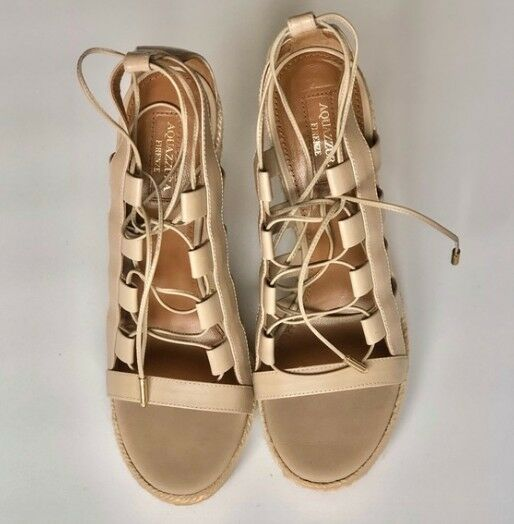 Aquazzura Amazon Leather, rope and wood wood and wedges d33b3b