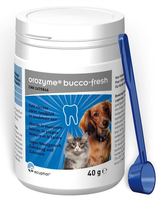 2x orozyme ® bucco-Fresh PlaqueOff per cani e gatti MHD 04 23