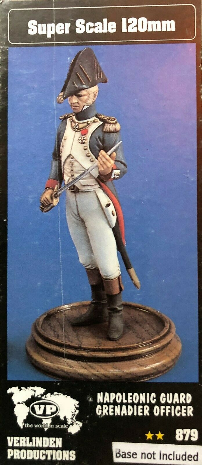 120MM 1 16 RESIN FIGURE VERLINDEN 879 NAPOLEONIC  GUARD GRENADIER OFFICER. nouveau.  beaucoup de concessions