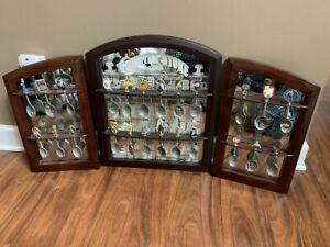 The-Franklin-Mint-Country-Store-Pewter-Spoons-Mirrored-Rack-Display-24-Spoons
