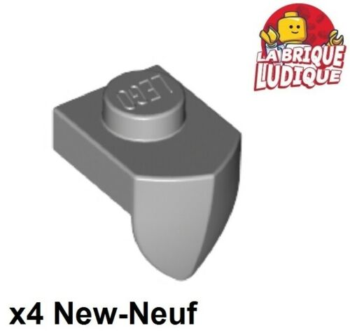 Lego 4x Plate Modified 1x1 Tooth dent Vertical gris//light bluish gray 15070 NEUF