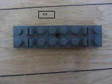 LOT DE 5 TRAVERSES   POUR RAIL / TRAIN --    LEGO  4166