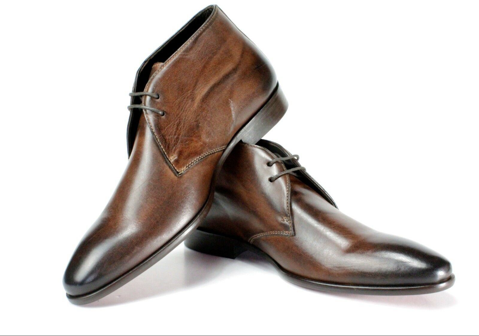 IVAN TROY Abou Marroneee avvio Handmade Men Italian Leather Dress avvio Ankle stivali